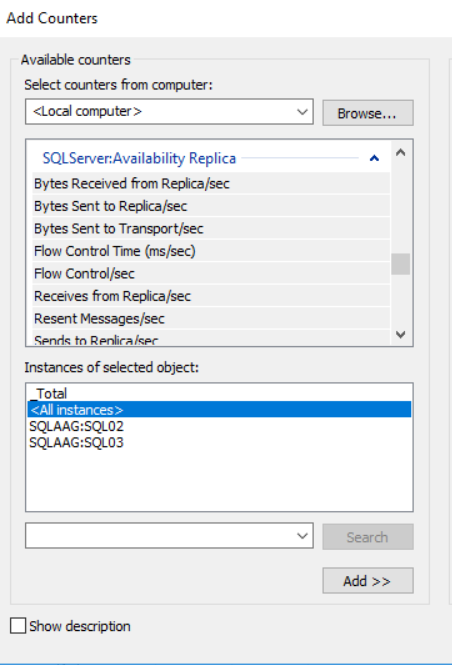 SQLServer Availability Replica Object