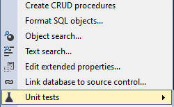 Apex database context menu