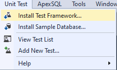Unit Test in dbForge SQL Tools