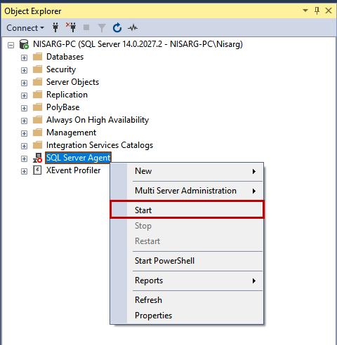 Configure SQL Jobs in SQL Server using T-SQL