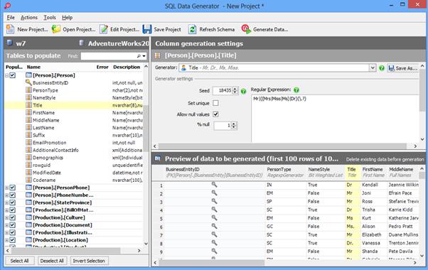 Redgate SQL Data Generator