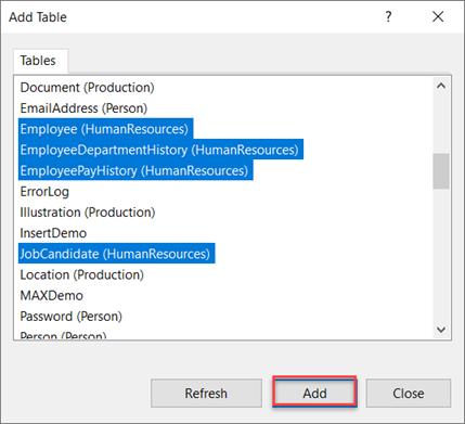 The Database Diagram window