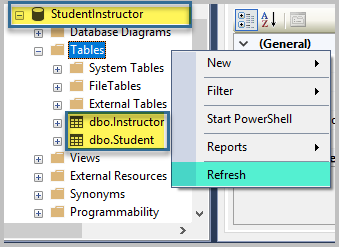 Save and View an Instructor Table (Object Explorer)