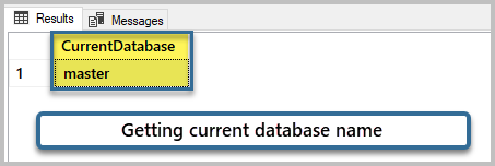 Getting current database name