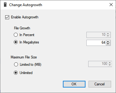 Autogrowth settings
