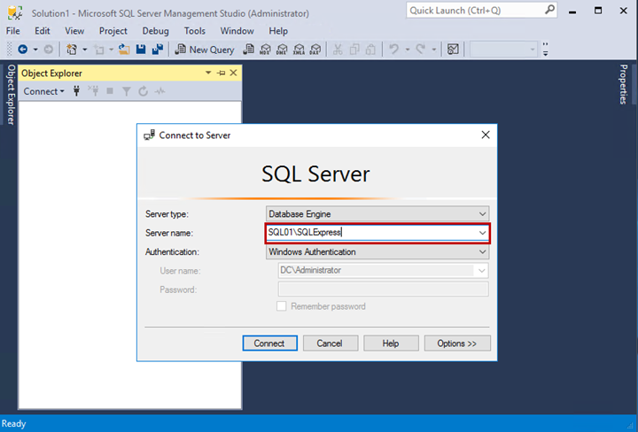 SQL Server Connection Settings