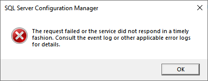 Picture 2. A warning box produced by the SQL Server Configuration Manager