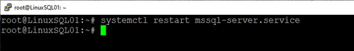 Picture 10. Restart the SQL Server services on Linux