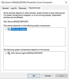 SQL Server Dependencies