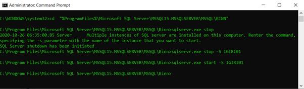 Using sqlservr.exe to Control SQL Server Startup