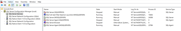 Using SSCM to Control SQL Server Startup