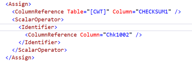The Plan XML confirms that Chk1002 is the Checksum column added because the CURSOR is OPTIMISTIC