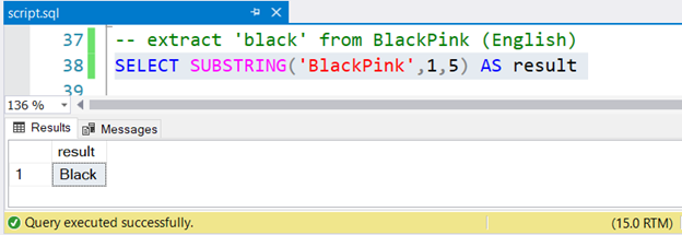 Result of extracting Black from BlackPink