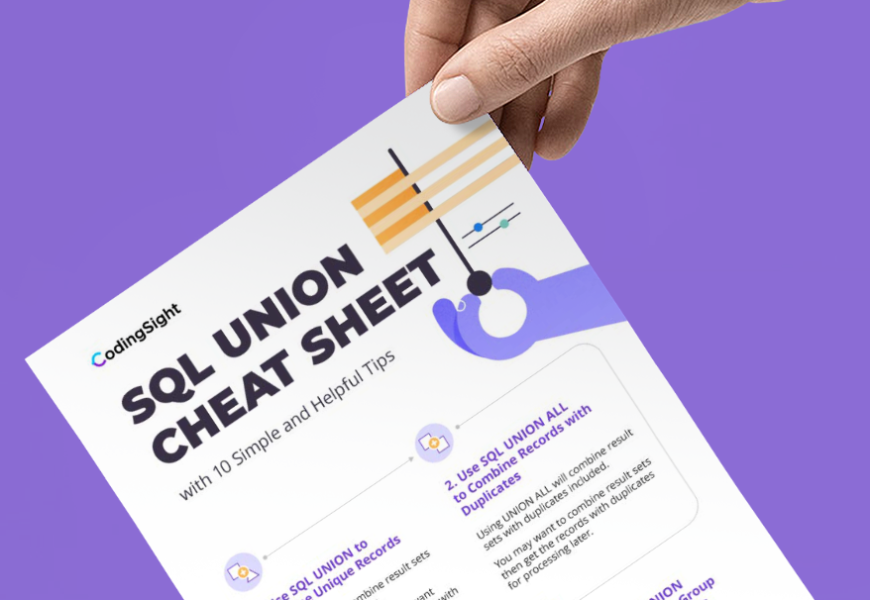 CodingSight - SQL Union Cheat Sheet Download Free PDF